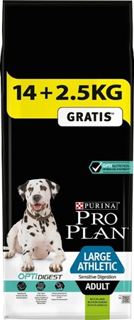 PRO PLAN Adult Large Athletic Sensitive Digestion Lamb 14+2,5 kg zdarma - Granule pro psy