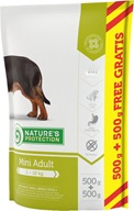 Nature's Protection Dog Dry Adult Mini 500 g + 500 g