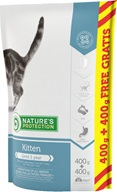 Nature's Protection Kitten 400 g + 400 g - Granule pro kočky Nature's Protection