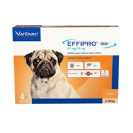 Effipro Duo S spot-on pro psy 2-10 kg 4x 0,67 ml - Pipety (Spot On)